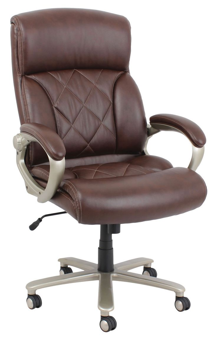 Tan leather office chair - Acme Karl Brown Bonded Leather Office Chair 92245 For 225