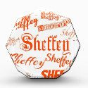 Orange Sheffey Fonts - 9569 Acrylic awards