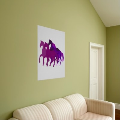 Purple Horses Fantasy Poster