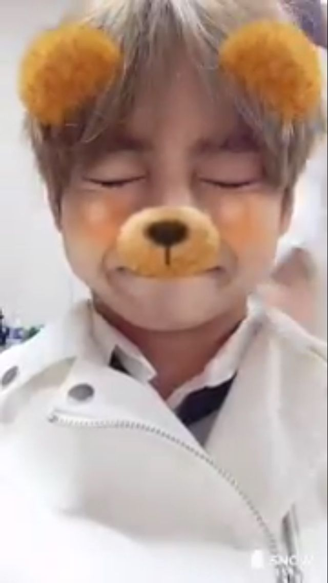 Taehyung on Twitter using the Snow app! ❤️