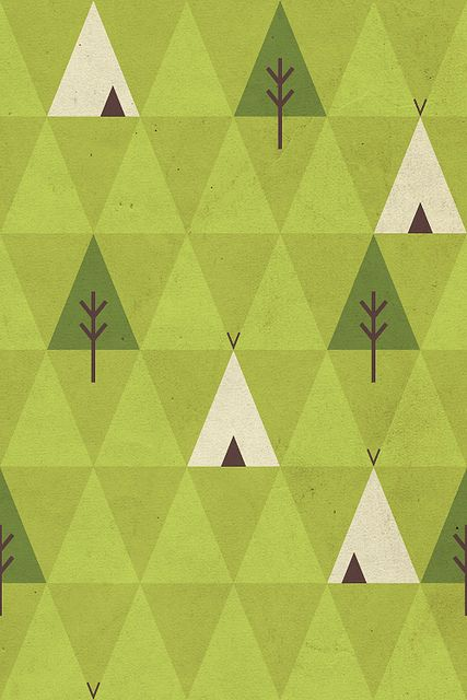 Simple pattern by skinnyandy, via Flickr  Liker trekantmønstre. Fargevalget er også kult.