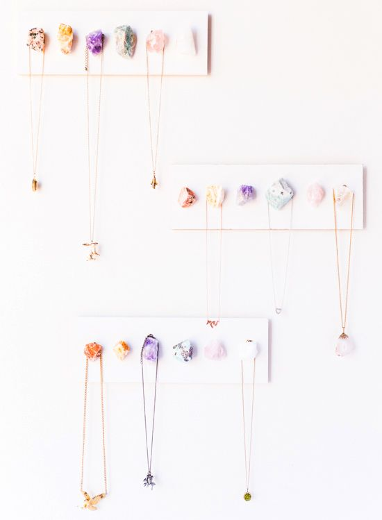 How-To: Boho Chic Crystal Necklace Display