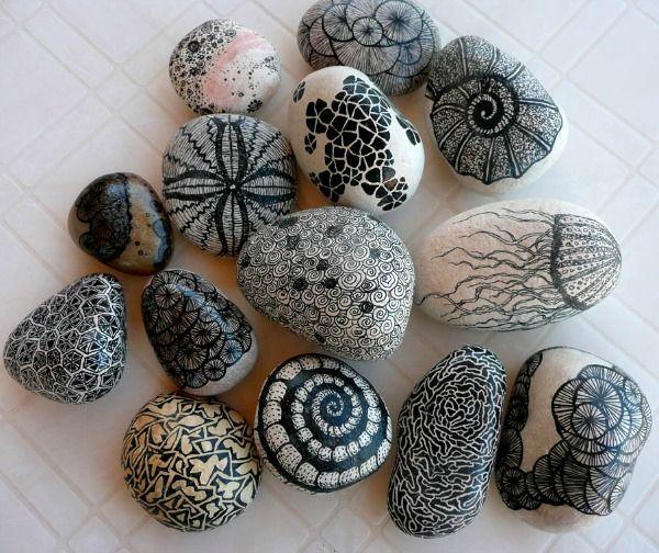 gedecoreerde stenen en nog meer tips over decoreren met natuurlijke materialen