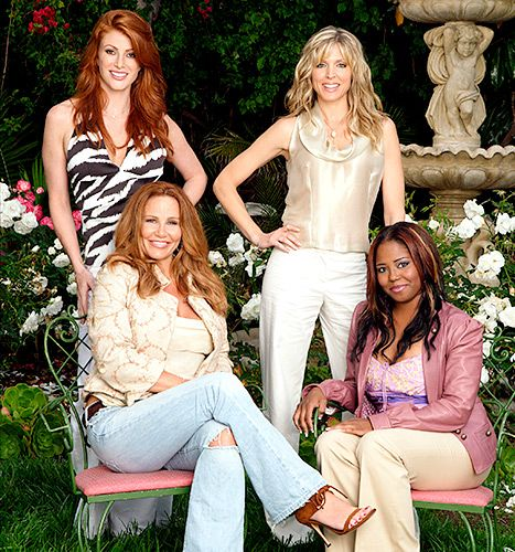 Tawny Kitaen poses with the cast members of the Ex-Wives Club in 2005.