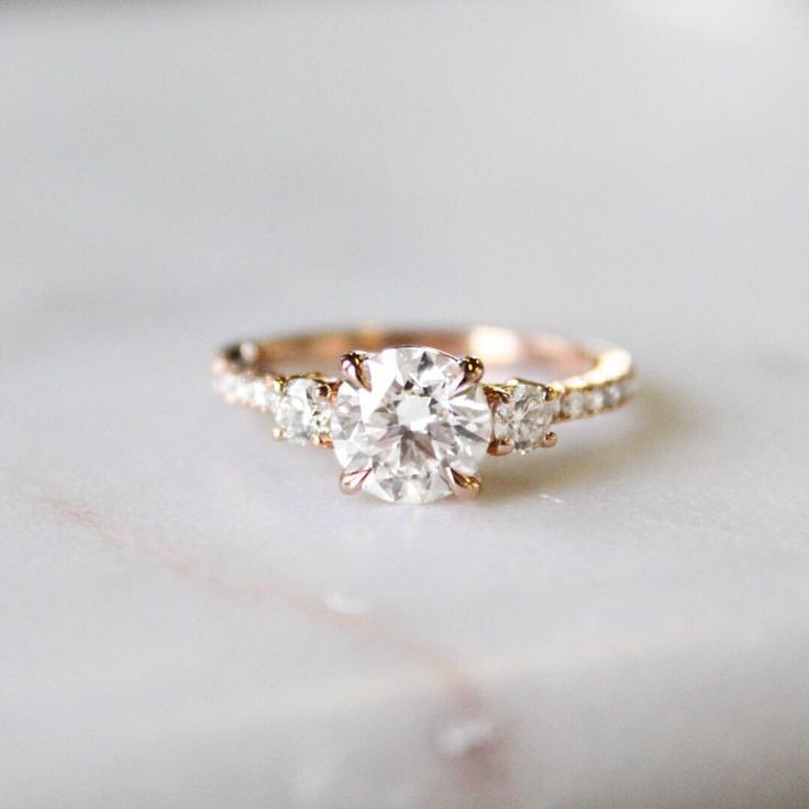 """4,432 Likes, 59 Comments - Brilliant Earth (@brilliantearth) on Instagram: """"Three stones, two hearts, one love.  Link in bio to shop this style   Radiance Diamond Ring…"""""""