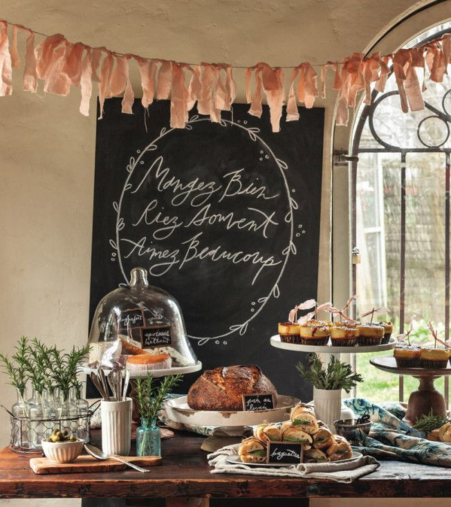 Destination Paris party from Trophy Cupcakes & Parties! by Jennifer Shea via Williams-Sonoma