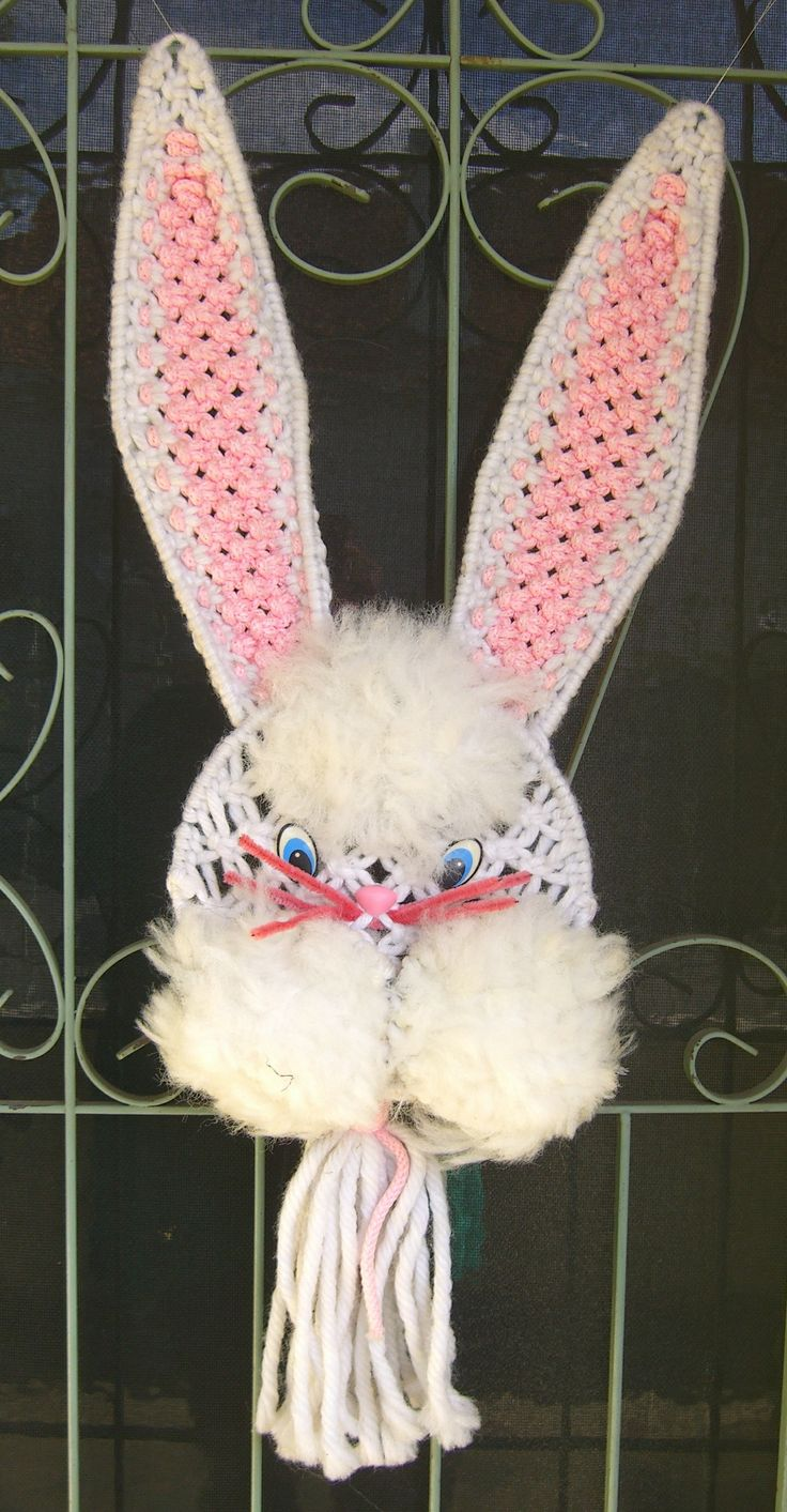 Happy Easter!  Macrame made 1978 by Margaret