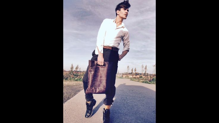 Authentic bag, leather, sporty  styling by the creatieffabriek