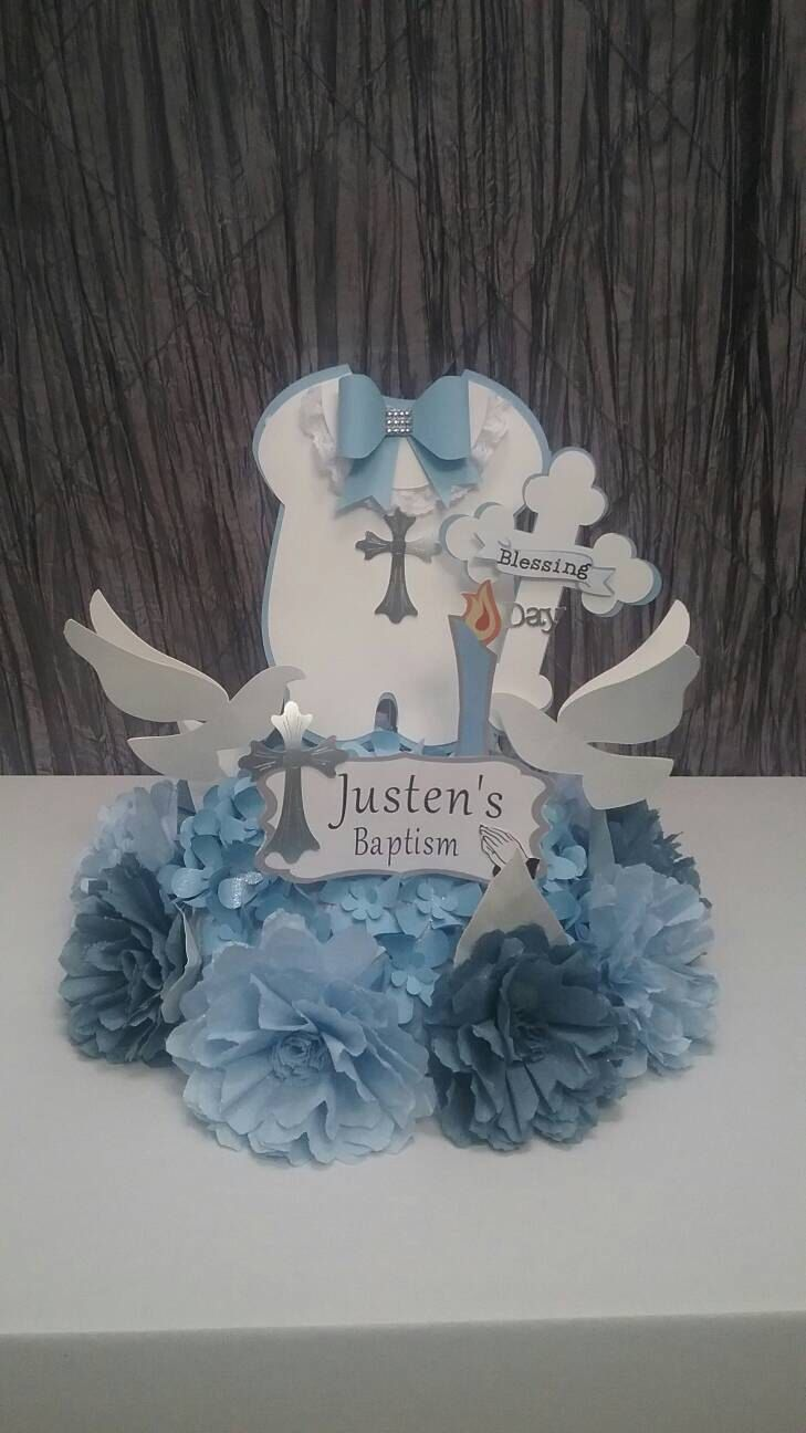 17 best ideas about boy baptism centerpieces on pinterest boy baptism decorations baptism - Baptism decorations ideas for boy ...