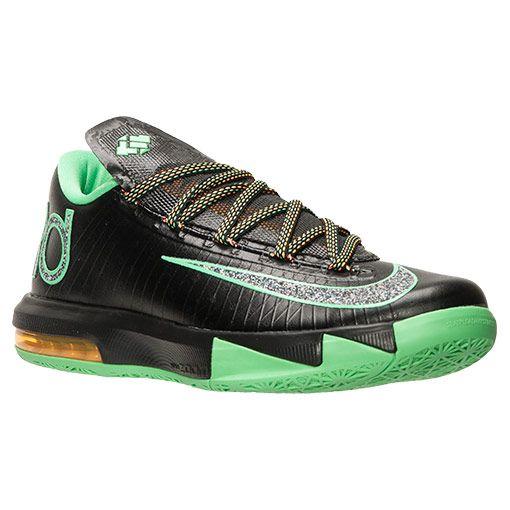 Men\u0027s Nike KD VI Basketball Shoes | FinishLine.com | Black/Metallic/Light