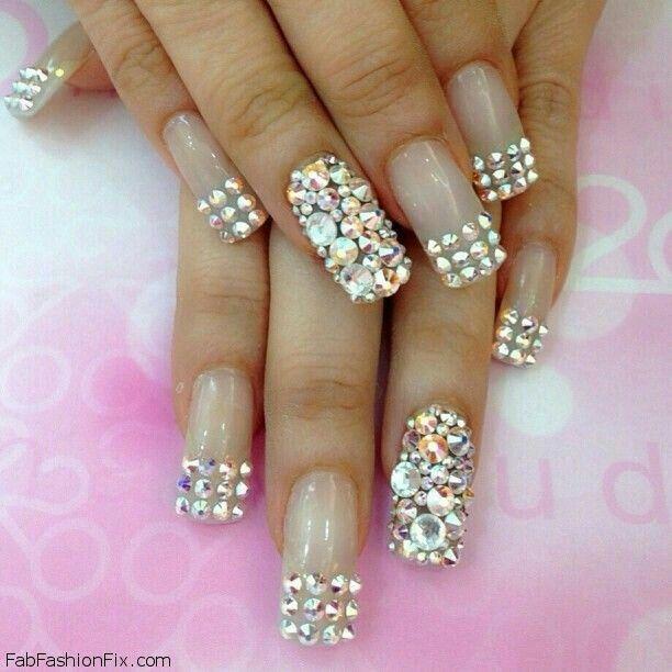 Blingy nails.