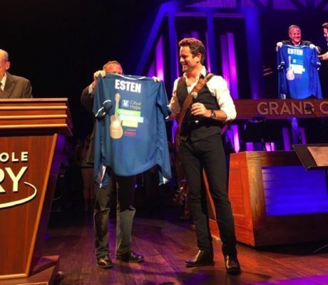 Opry Surprises Charles Esten with City of Hope Softball Jersey