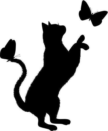 Adesivo de parede Gato com Borboletas - Adesivo decorativo é na Arte Grudada