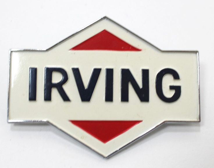 Irving Oil Logo Car Truck Decal Metal With Mounting Pins Die-Cut Gas Pump Decal | eBay
