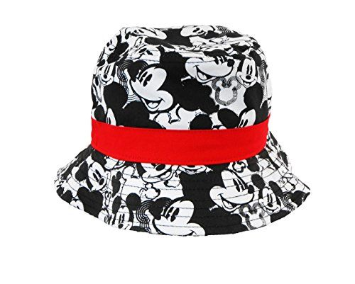 Disney Kids Mickey Mouse All Over Print Bucket Hat Black/White @ niftywarehouse.com