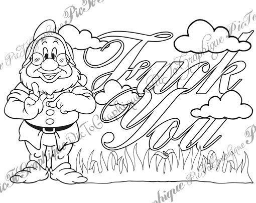 Swear Words Coloring Page Fck You Too From Sweary