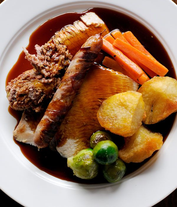Dominic Chapman serves up the ultimate gravy recipe for your Christmas roast, from his recipe for roast turkey with all the trimmings. The pan juices from the meat are key here - they impart a meaty richness that adds depth and will save you from the dreaded bland, watery gravy that must be avoided at all costs.