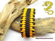 Armband black / goldenrod – Wide Dragon's tongue