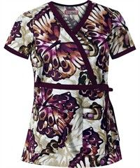 Koi Scrubs Night Flight Print Top.  Have fun this Fall with Koi's amazing new prints!  These are selling fast, so get yours now, at Scrubs & More, The Uniform Store.