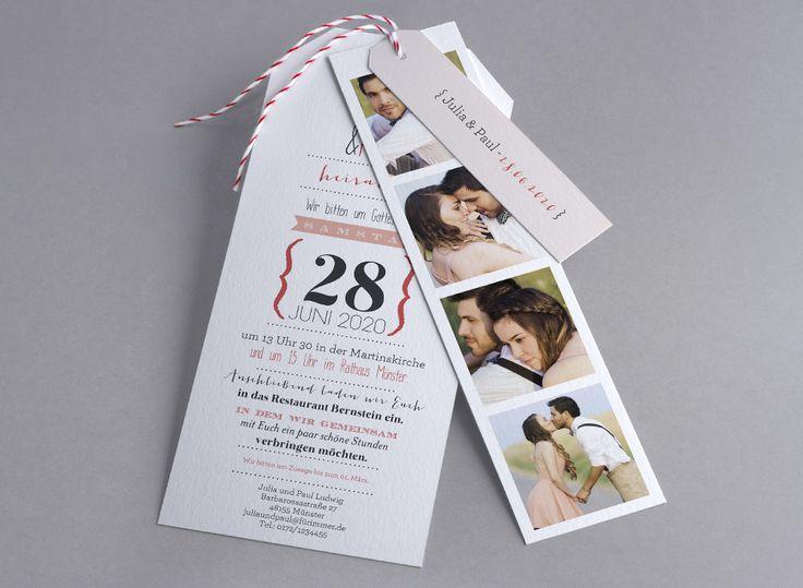 Der schönste Tag, angekündigt mit Ihren schönsten #Fotos #Hochzeitskarte Only White M42-004 #Fotoautomatenbilder, #Fotoeinladungskarte, #Einladungskarte, #Kreativehochzeit