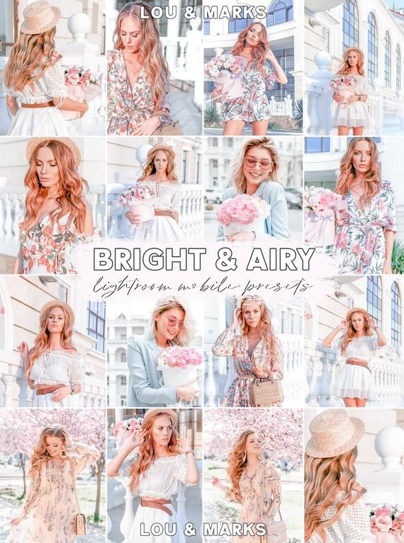 Bright Airy Presets Photo presets for Lightroom Mobile
