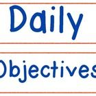 FREEBIE! These Daily Objectives Signs can be used in a pocket chart to display your daily objectives for the students. These could also just be cut out and ...