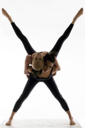 Gorgeous partner #yoga -