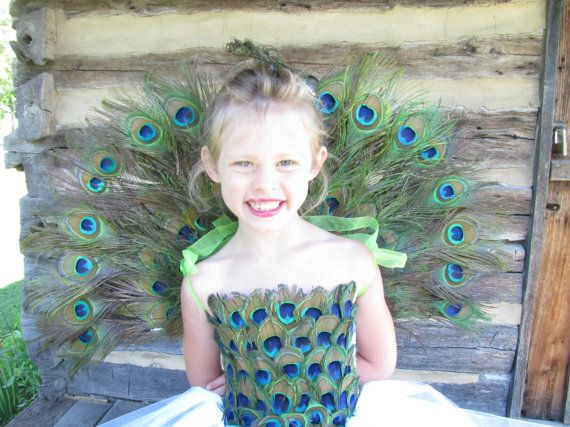 Peacock Wings and hair accessory by TheCreatorsTouch on Etsy, $67.50