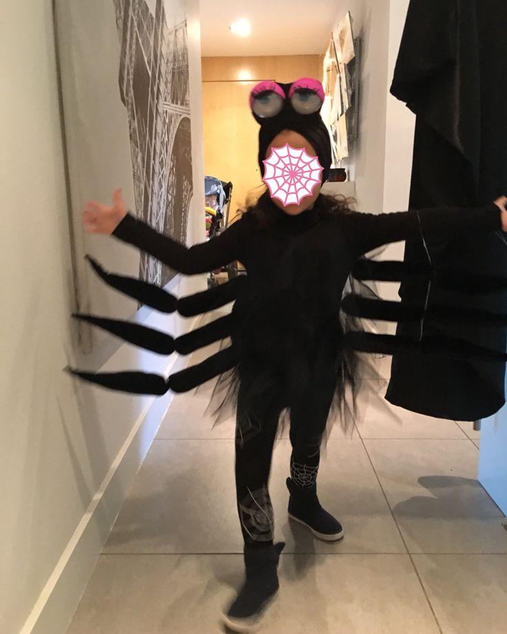 Disfraz de araña viuda negra Halloween 2017