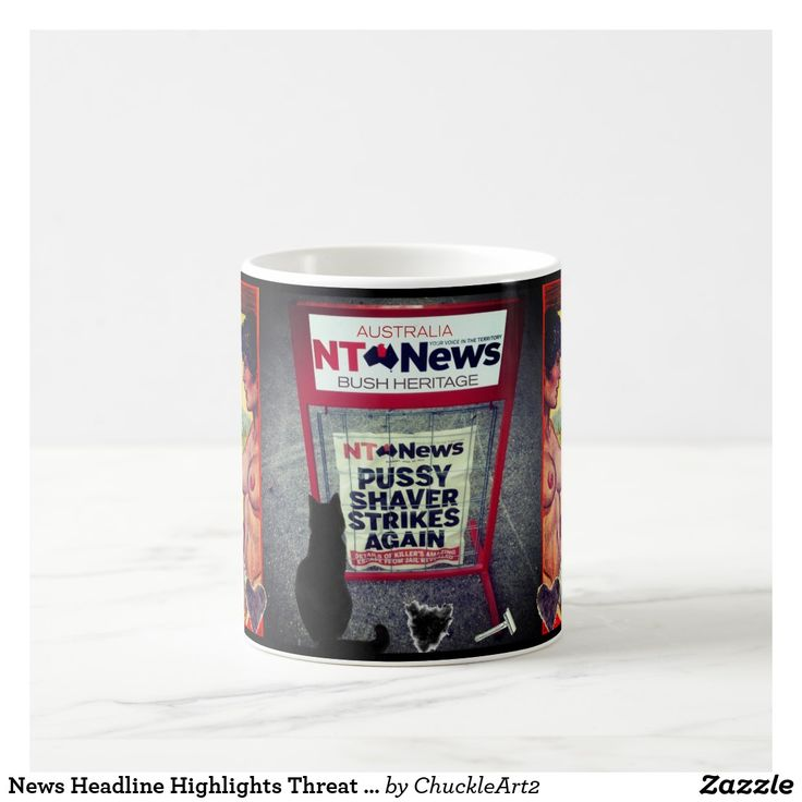 News Headline Highlights Threat to Australian Bush Coffee Mug