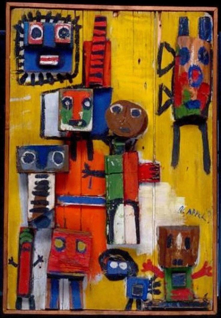 Karel Appel- Questioning Children 1949  http://www.tate.org.uk/art/artworks/appel-questioning-children-t04158 http://www.pinterest.com/andrewortonart/karel-appel/