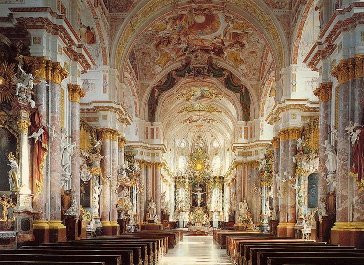 pics for baroque church interior