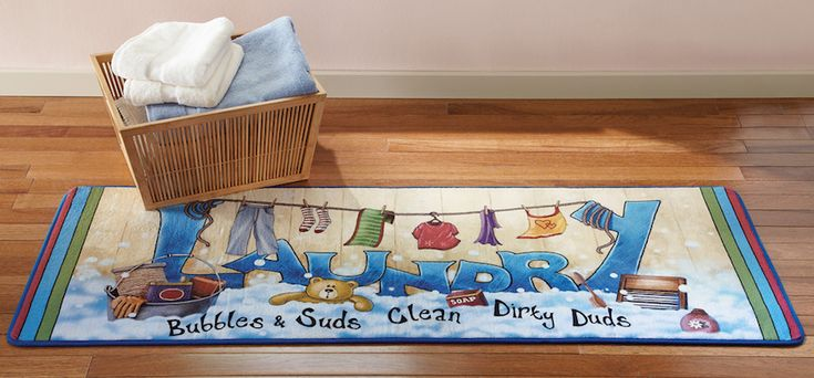 "57"" Long Soft Colorful Laundry Room Floor Runner Rug Mat"