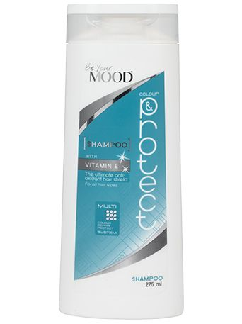 » SCHAMPO COLOUR & PROTECT Mood's hårvårdsserie är specialutvecklad för färgat hår. Schampo för alla hårtyper. Innehåller anti-oxidanter som skyddar ditt hår mot yttre påfrestningar och ger maximal vitalitet. Innehåller även solrosextrakt som reparerar och skyddar mot skadliga UV-strålar. För optimal färgvård. Finns att köpa i dagligvaruhandeln.