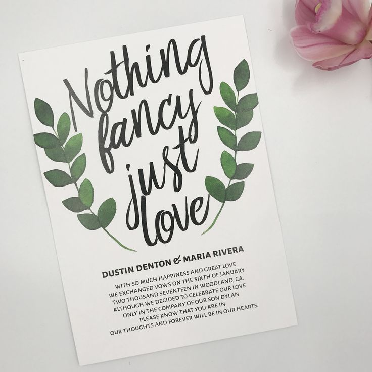 173 best Elopement Ideas images on Pinterest Announcement cards