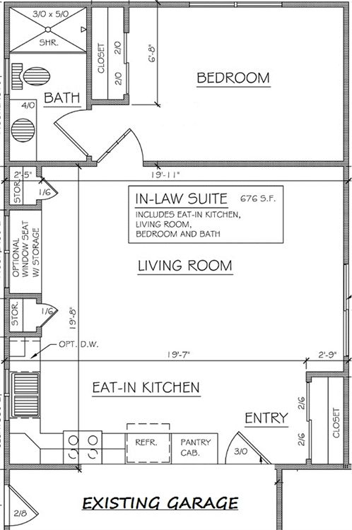 In law addition plans in law additions gerber homes Basement in law suite floor plans