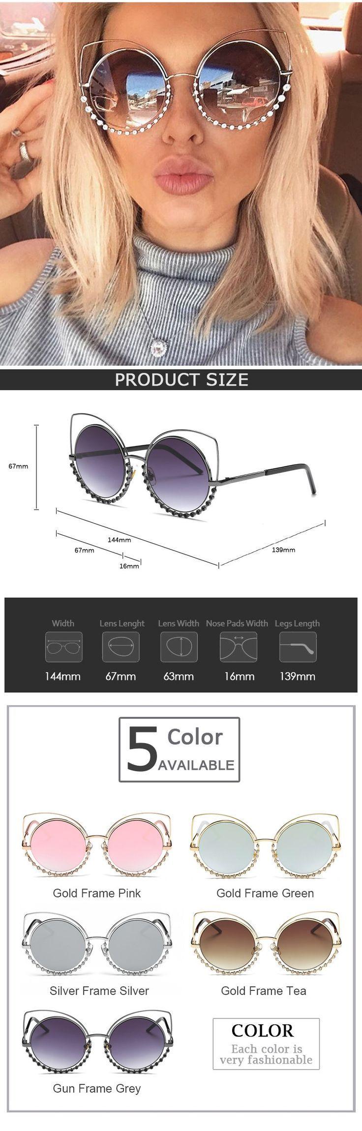 Heißer 2017 mode sonnenbrillen frauen luxusmarke designer vintage sonnenbrille …