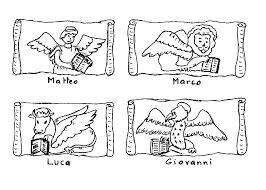 Risultati immagini per disegni da colorare simboli evangelisti