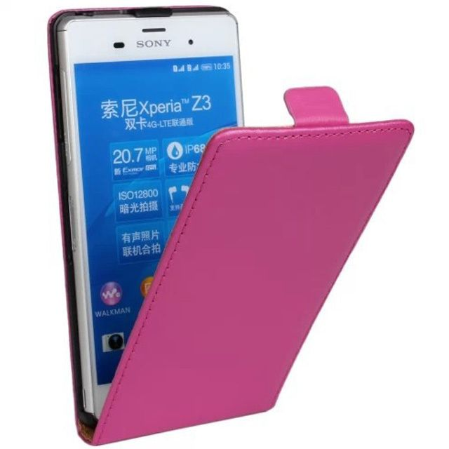 New Case - Stylish Hot Pink Sony Xperia Z3 Genuine Leather Cover Flip Case, $19.95 (http://www.newcase.com.au/stylish-hot-pink-sony-xperia-z3-genuine-leather-cover-flip-case/)