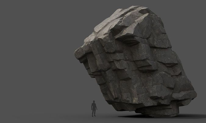 modular rocks 3d model low-poly obj mtl fbx 30 | Ani pack in 2019