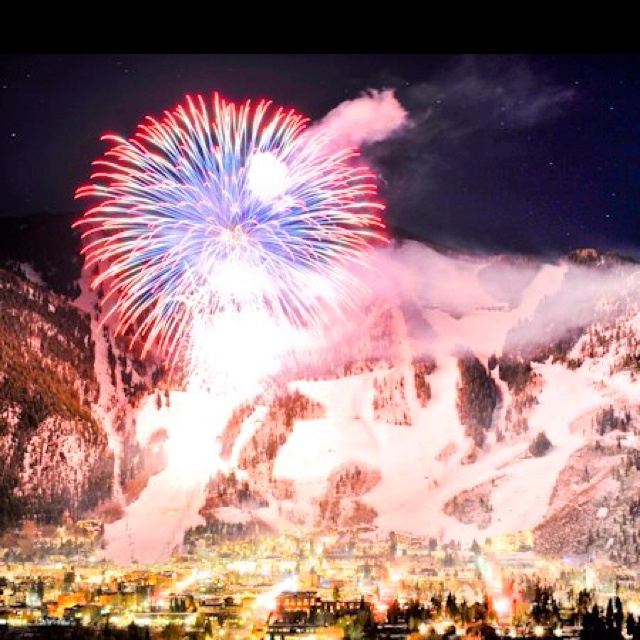 Amazing pic of Aspen CO New Years Celebration!