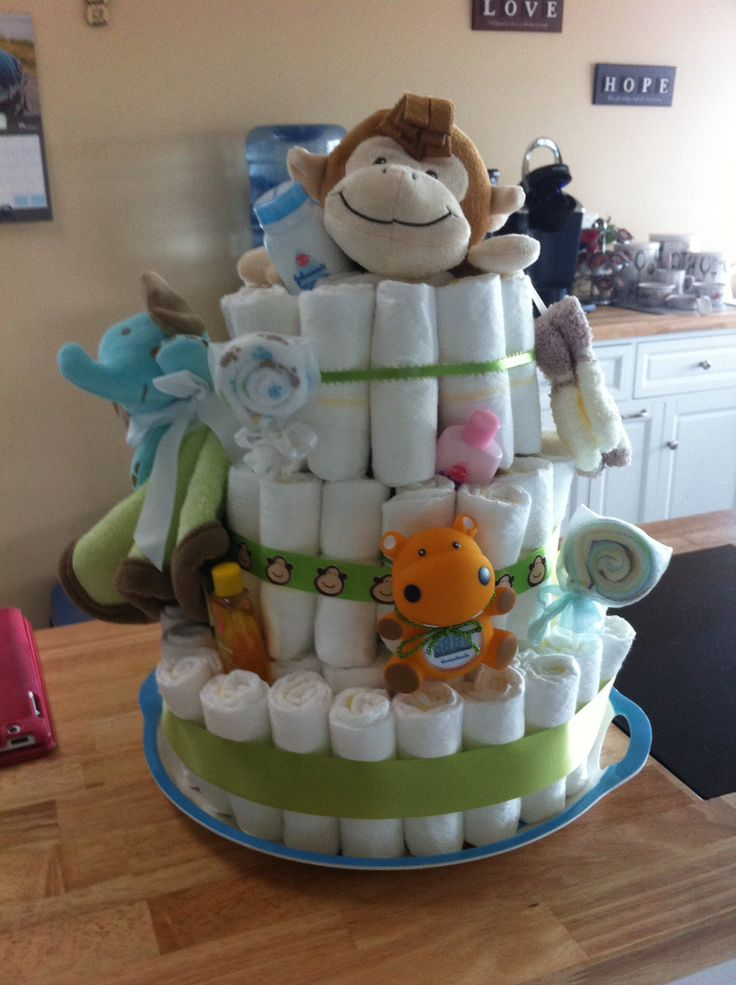 The diaper cake I made for Mykenna