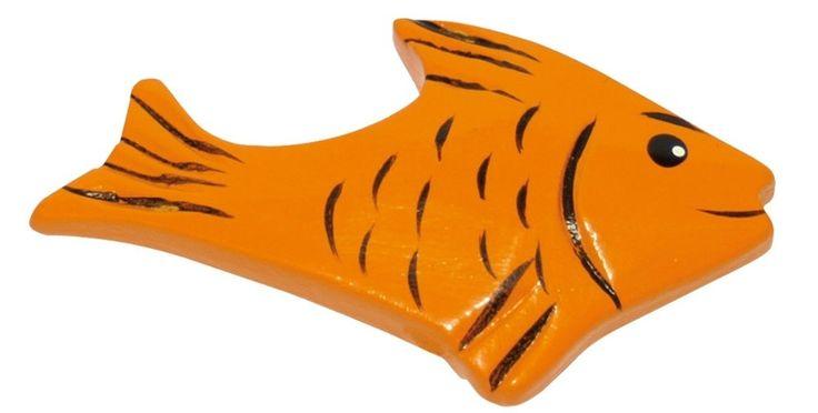 Houtenvis(set van 12)voor realistisch spelen in de winkel of keuken.    Set van 12.      Let op: visjes zijn grijs van kleur. - Base Toys houten vis (set van 12)