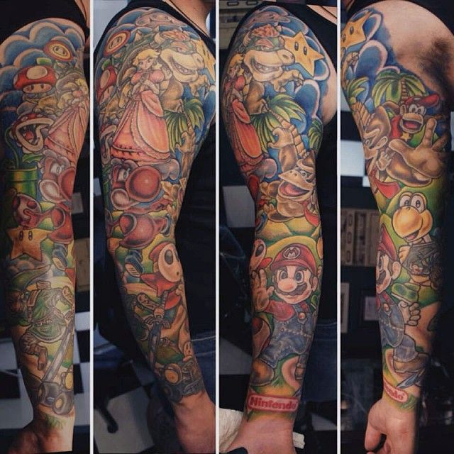 Probably the best Nintendo Tattoos I've seen
