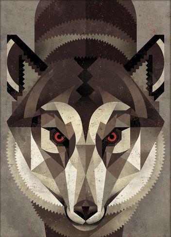 Wolf by Dieter Braun #illu #illustration #icon #iconic #wolf #wildlife #animal #face #geometric #book #print #brauntown