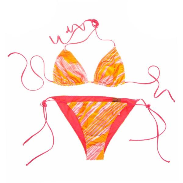 Missoni Alghero Arancia Triangel Bikini ($205) ❤ liked on Polyvore