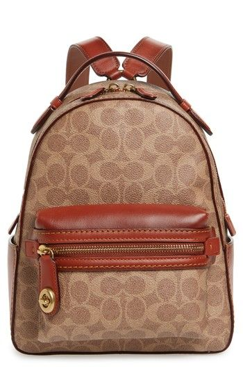 4ed8d335e6 COACH 1941 Signature Canvas Campus 23 Backpack in 2019