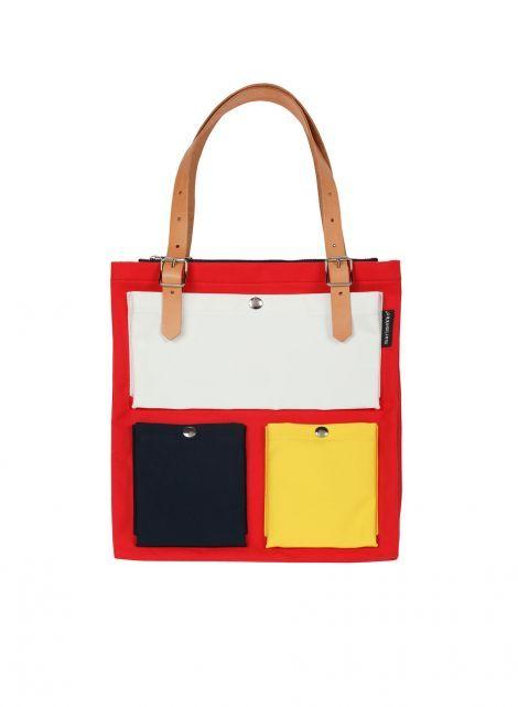 Toimi-laukku (punainen, valk, t.sin, kelt) |Laukut & asusteet, Laukut, Olkalaukut ja reput | Marimekko
