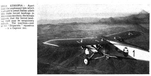 Sobre Etiopía Flight, 23 de enero de 1936 (www.flightglobal.com)