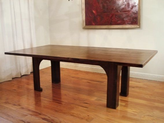 """Custom Made Reclaimed Wood """"Poydras"""" Conference / Dining Table (Cypress)"""